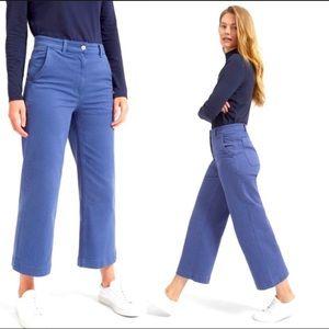 Everlane Size 2 Hi-Rise Wide Leg Crop Jeans